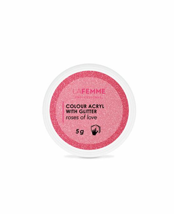 polvere-acrilica-nail-art-rosa-glitter