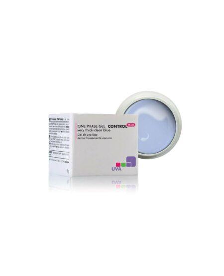 CONTROL PLUS™ Gel UV Monofase denso Trasparente Azzurro 15gr