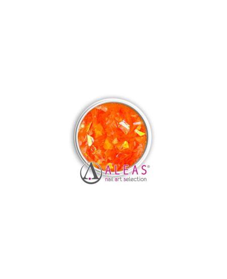 Fiocchi scintillanti arancioni