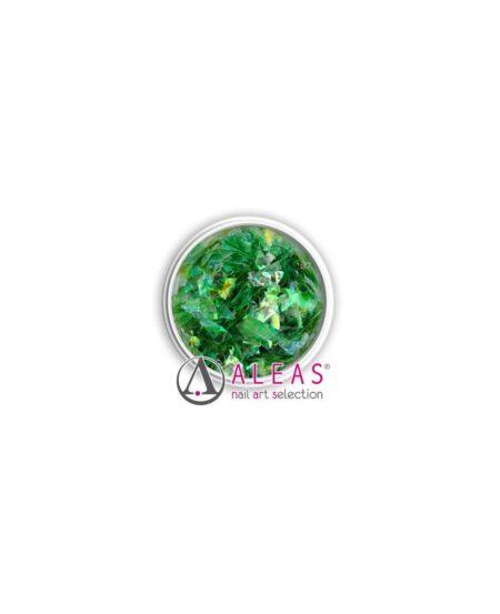 Fiocchi scintillanti verdi