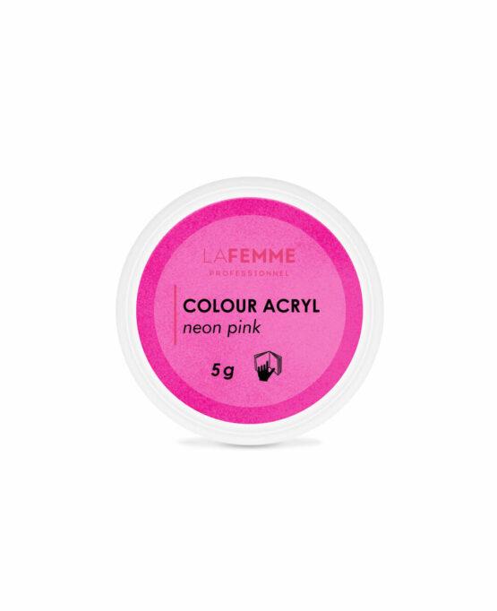 polvere-nail-art-colorata-rosa-fluo
