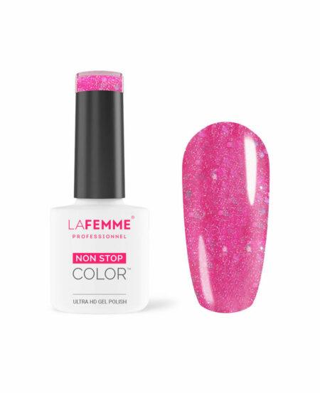 smalto semipermanente rosa glitterato h207