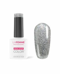 Smalto Gel Semipermanente-Argento Glitterato coprente H219