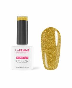 Smalto semipermanente Oro Glitter coprente H222