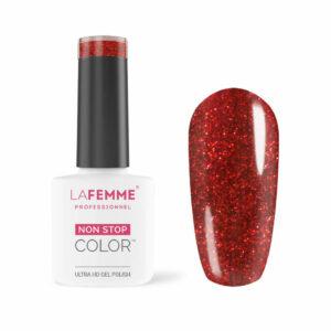 Smalto-semipermanente Rosso Glitter-semi coprente H223