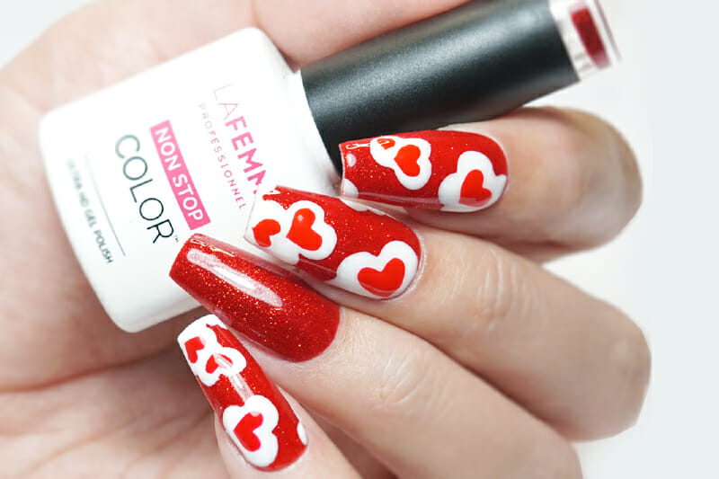 tutorial nail art san valentino smalto semipermanente gel