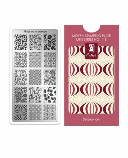Mini Piastra Stamping Moyra® 118 - Dream On - 6cm x 12cm