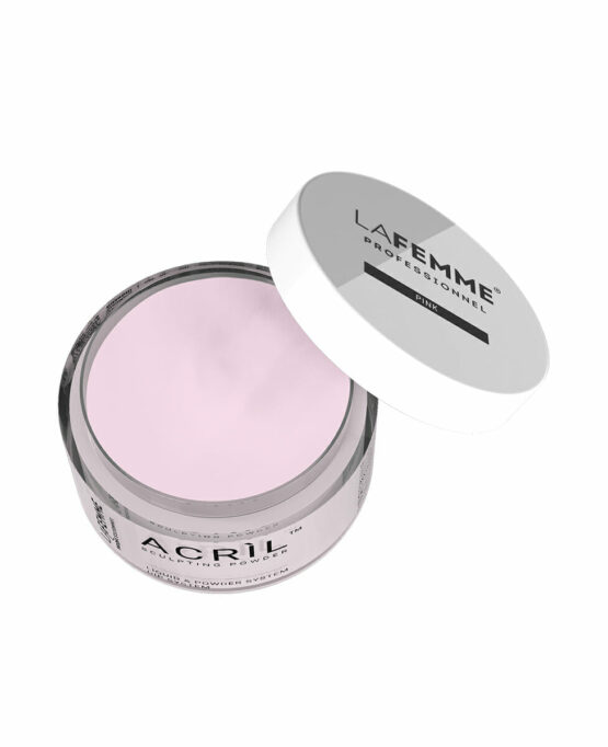 Polvere acrilica trasparente rosa