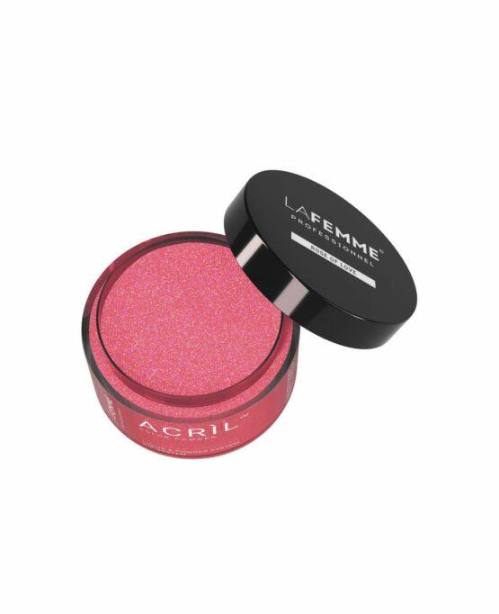 acrilico rosa scuro con glitter