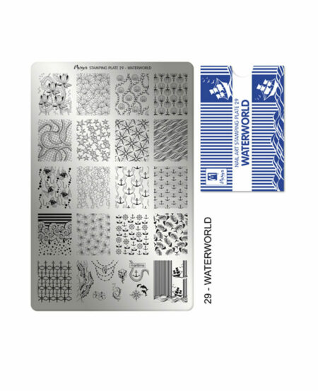 Piastra Stamping Moyra® 29 - Waterworld - 9,5cm x 14,5cm