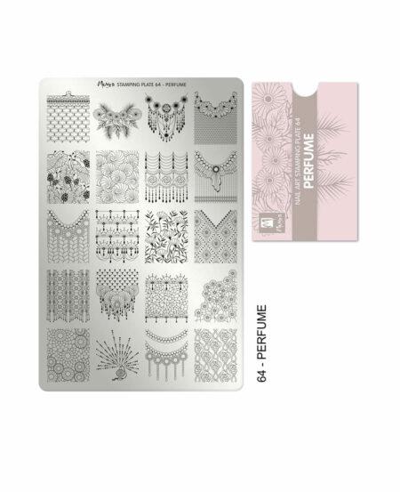 Piastra Stamping Moyra® 64 - Perfume - 9,5cm x 14,5cm