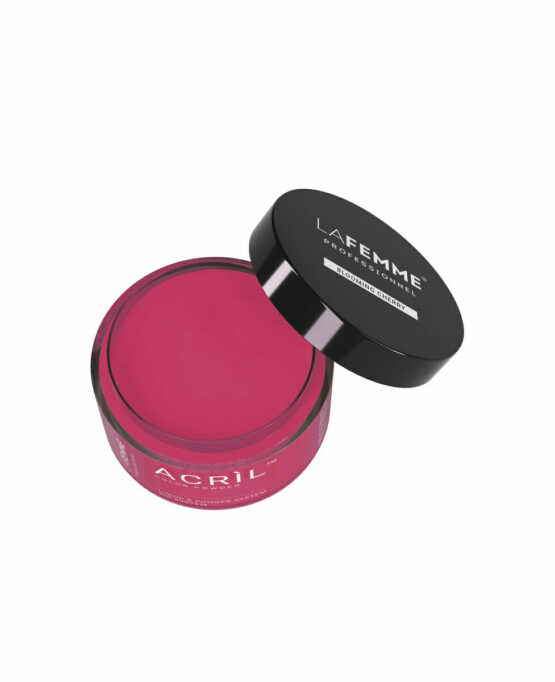 polvere acrilica unghie rosso rosa fioritura ciliegio