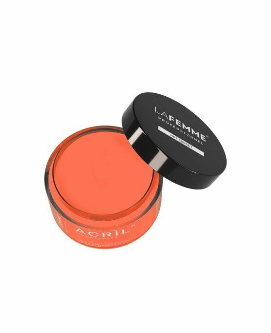 polvere arancione acceso per acrilico