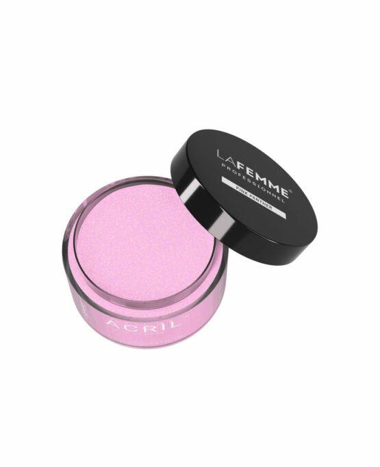 povere acrilica rosa chiaro glitter