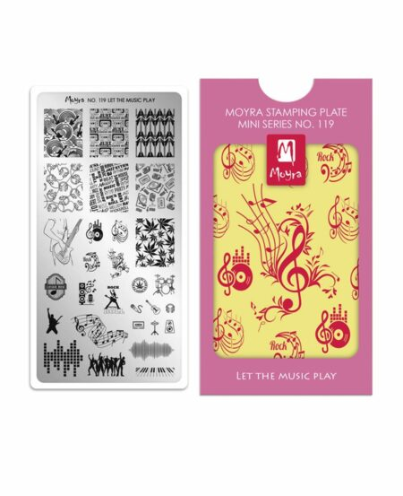 Mini Piastra Stamping Moyra® 119 - Let the Music Play - 6cm x 12cm