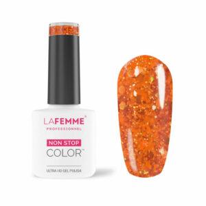 Smalto Semipermanente Arancione Glitter H235