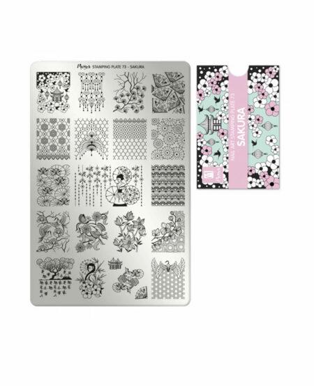 Piastra Stamping Moyra® 73 - Sakura - 9,5cm x 14,5cm