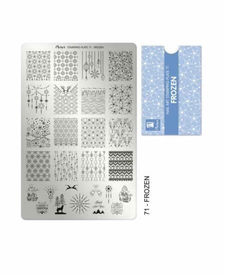 Piastra Stamping Moyra® 71 - Frozen - 9,5cm x 14,5cm