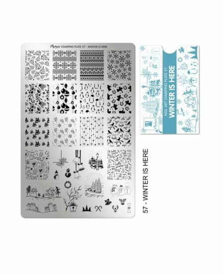 Piastra Stamping Moyra® 57 - Winter is Here - 9,5cm x 14,5cm