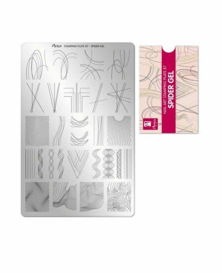 Piastra Stamping Moyra® 87 - Spider Gel - 9,5cm x 14,5cm