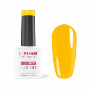 smalto semipermanente unghie giallo sole la femme H254