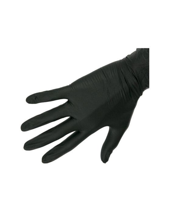 guanti nitrile nero taglia M