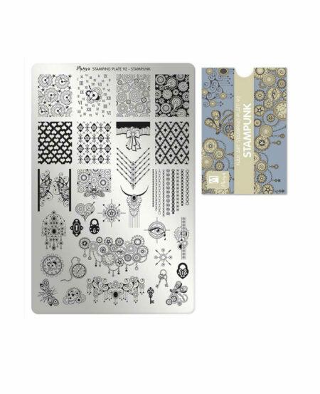 Piastra Stamping Moyra® 92 - Stampunk - 9,5cm x 14,5cm
