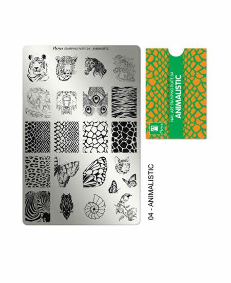 Piastra Stamping Moyra® 04 - Animalistic - 9,5cm x 14,5cm