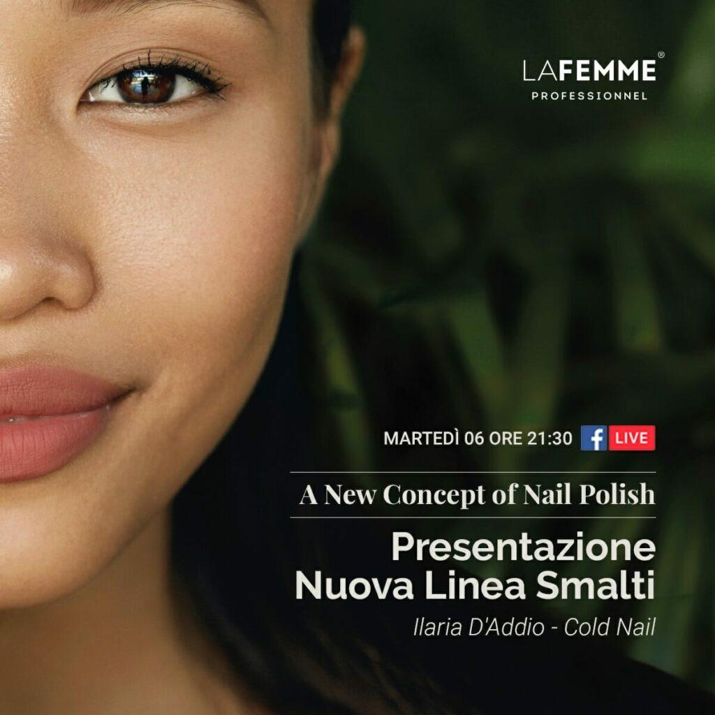 evento live nuova collezione smalti la femme
