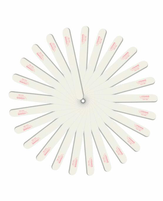 lima dritta bianca preparazione unghie confezione risparmio