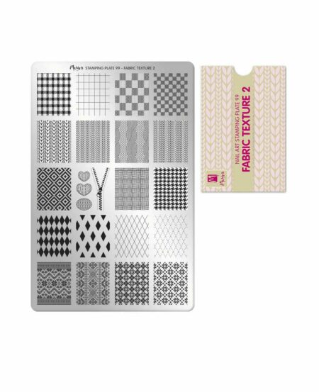 Piastra Stamping Moyra® 99 - Fabric Texture 2 - 9,5cm x 14,5cm