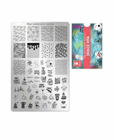 Piastra Stamping Moyra® 94 - Dolce Vita - 9,5cm x 14,5cm