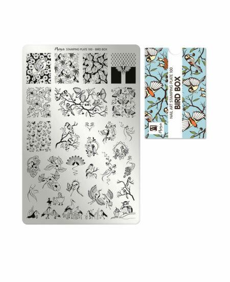 Piastra Stamping Moyra® 100 - Bird Box - 9,5cm x 14,5cm