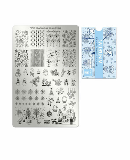 Piastra Stamping Moyra® 101 - Wintertime - 9,5cm x 14,5cm