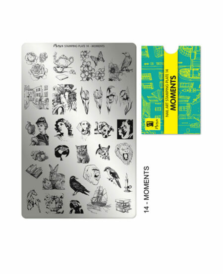 Piastra Stamping Moyra® 14 - Moments - 9,5cm x 14,5cm