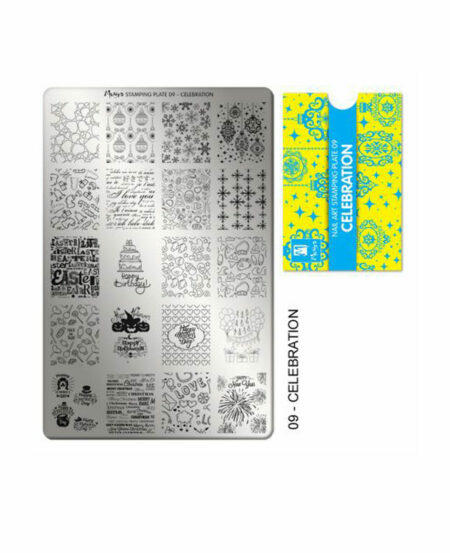 Piastra Stamping Moyra® 09 - Celebration - 9,5cm x 14,5cm