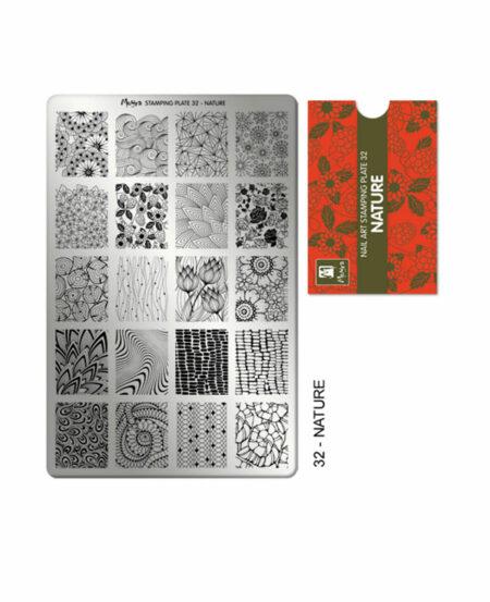 Piastra Stamping Moyra® 32 - Nature - 9,5cm x 14,5cm