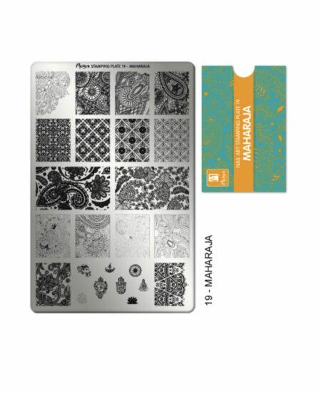 Piastra Stamping Moyra® 19 - Maharaja - 9,5cm x 14,5cm