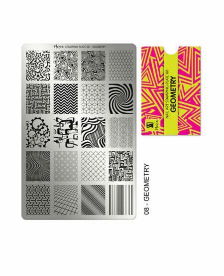 Piastra Stamping Moyra® 08 - Geometry - 9,5cm x 14,5cm