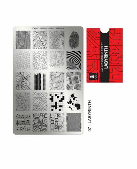 Piastra Stamping Moyra® 07 - Labyrinth - 9,5cm x 14,5cm