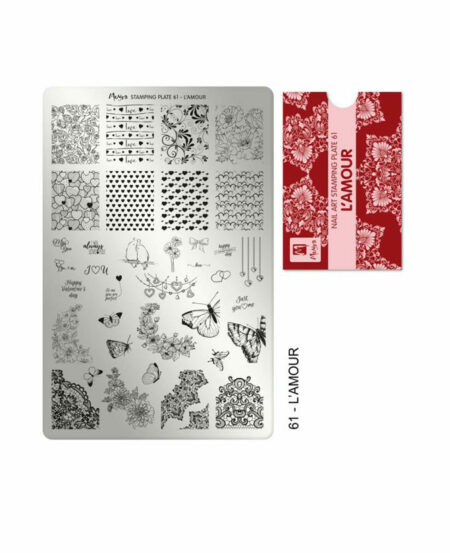 Piastra Stamping Moyra® 61 - L'amour - 9,5cm x 14,5cm
