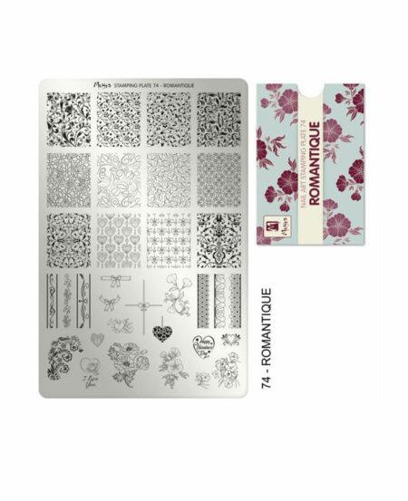 Piastra Stamping Moyra® 74 - Romantique - 9,5cm x 14,5cm