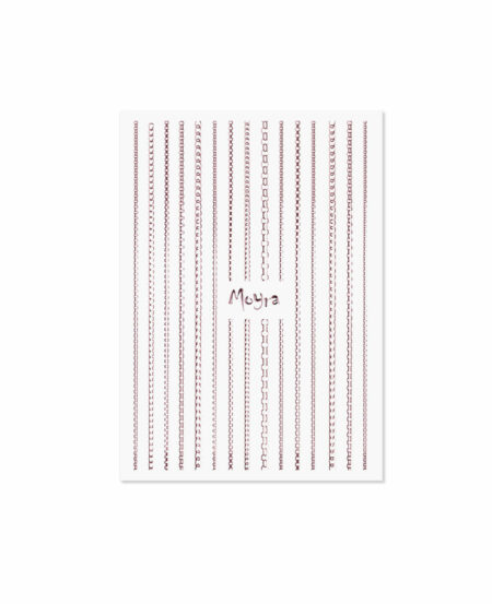 Moyra® Nail Art Strips (strisce adesive) - Catena N.03 ROSE GOLD
