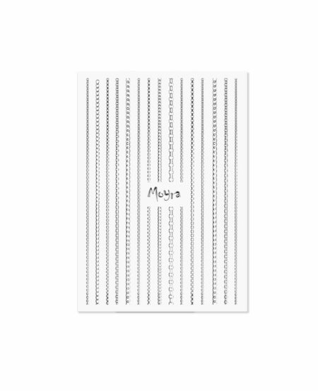 Moyra® Nail Art Strips (strisce adesive) - Catena N.02 SILVER