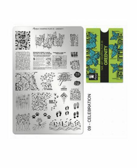 Piastra Stamping Moyra® 81 - Greenity - 9,5cm x 14,5cm