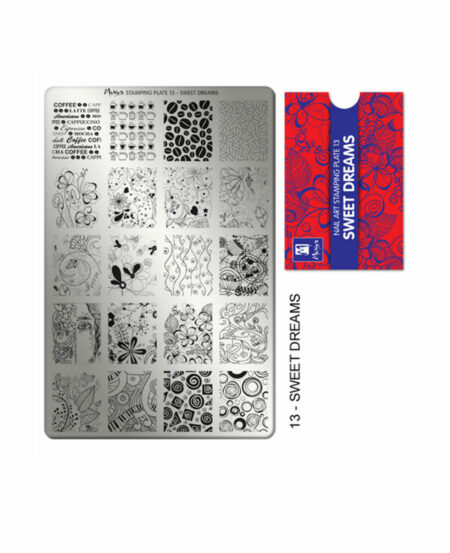 Piastra Stamping Moyra® 13 - Sweet Dreams - 9,5cm x 14,5cm