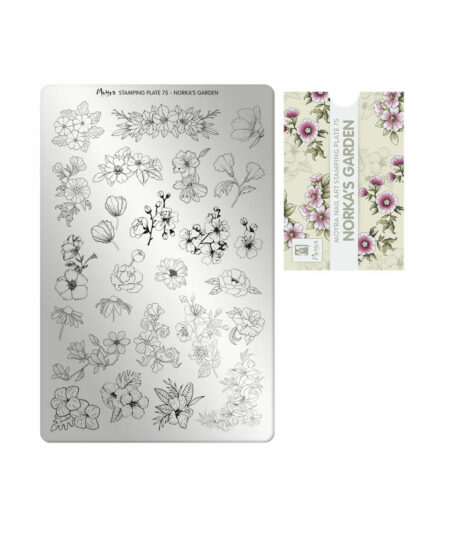 Piastra Stamping Moyra® 75 - Norka's Garden - 9,5cm x 14,5cm