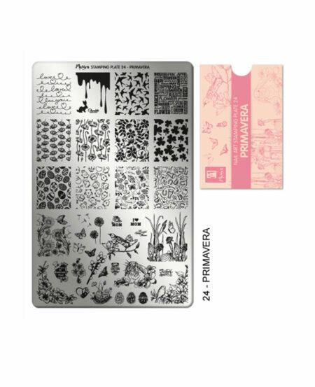 Piastra Stamping Moyra® 24 - Primavera - 9,5cm x 14,5cm