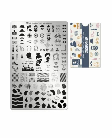 Piastra Stamping Moyra® 103 - Designer - 9,5cm x 14,5cm