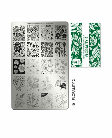 Piastra Stamping Moyra® 10 - Florality 2 - 9,5cm x 14,5cm